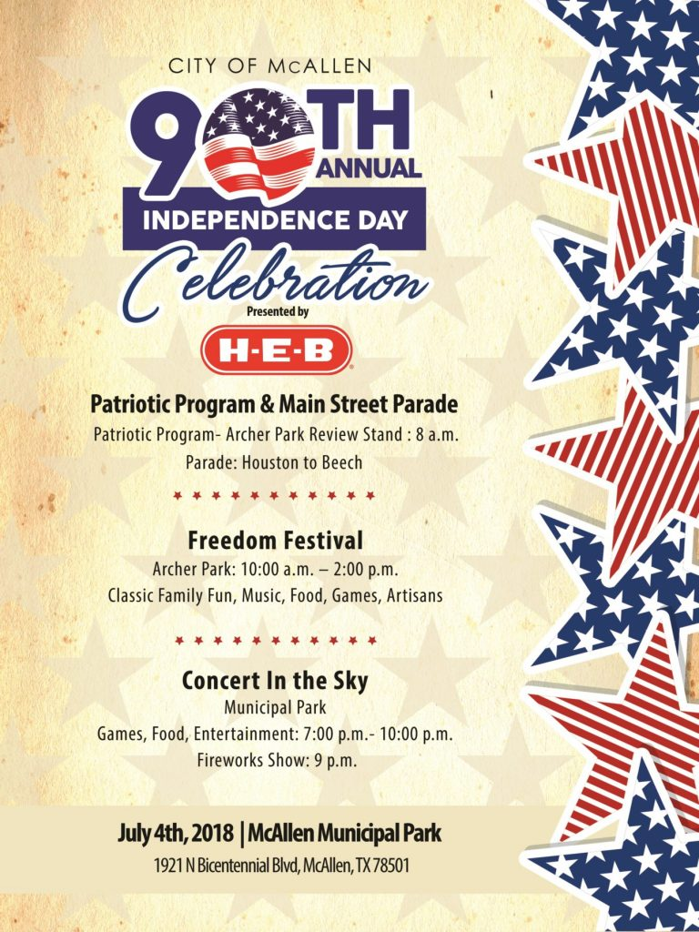 McAllen, HEB, July 4th, Independence Day