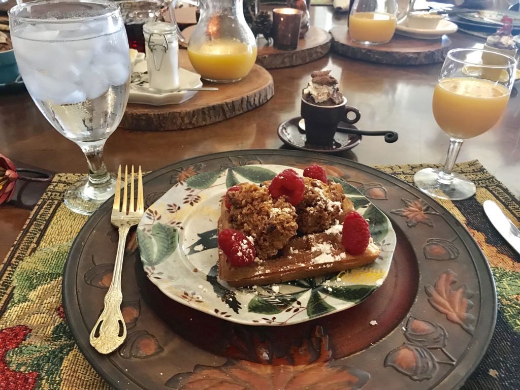 McKinney Bed and Breakfast meal